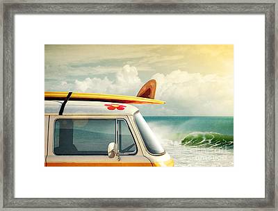 Surfing Way Of Life Framed Print by Carlos Caetano