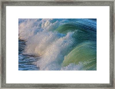 Surfs Up At Pismo Beach, California, Usa Framed Print by Chuck Haney