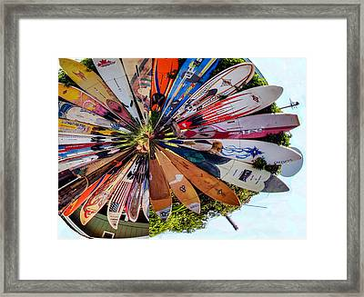 Framed Print featuring the photograph Surf's Up by Cathy Donohoue
