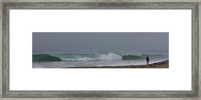 Framed Print featuring the photograph Surfs Up by Christy Pooschke