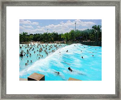Framed Print featuring the photograph Surfs Up by David Nicholls
