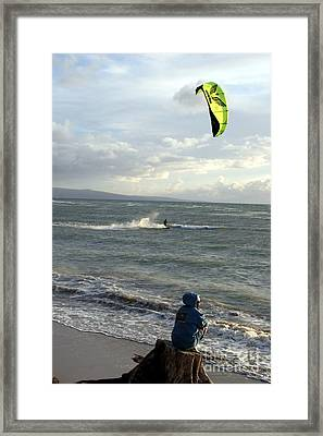 Framed Print featuring the photograph Surfs Up by Mary Lou Chmura