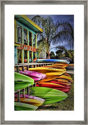 Surf's Up Framed Print by Robert McCubbin