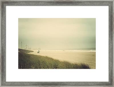 Surf's Up Seaside Park New Jersey Framed Print by Terry DeLuco