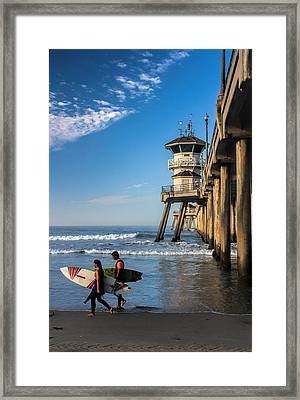 Surf's Up Framed Print by Tammy Espino