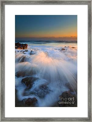 Surge Framed Print by Mike  Dawson