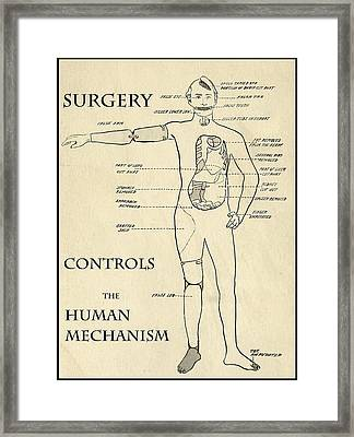 Surgery Controls The Human Mechanism   1906 Framed Print by Daniel Hagerman