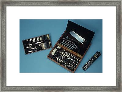 Surgery Set Framed Print by Science Photo Library
