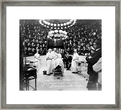 Surgical Amphitheatre Framed Print by Library Of Congress