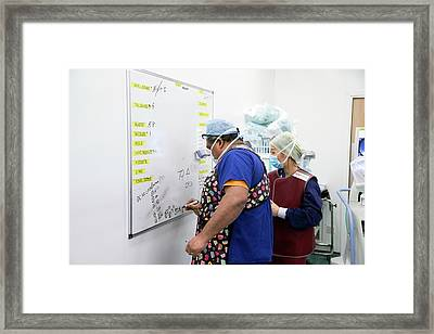 Surgical Equipment Tracking Framed Print by Mark Thomas