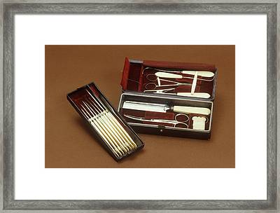 Surgical Instruments Framed Print by Science Photo Library