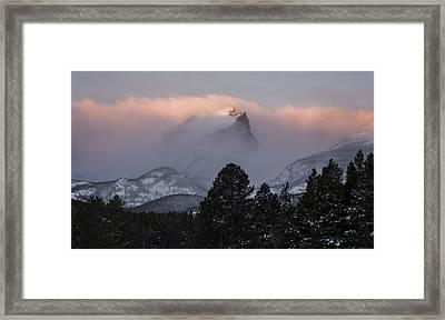 Surmounting The Dawn Framed Print