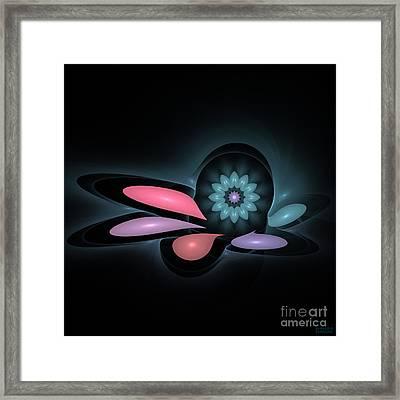 Framed Print featuring the digital art Surprise Flower by Hanza Turgul