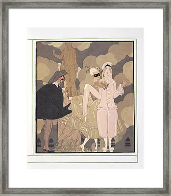 Surprise Framed Print by Georges Barbier