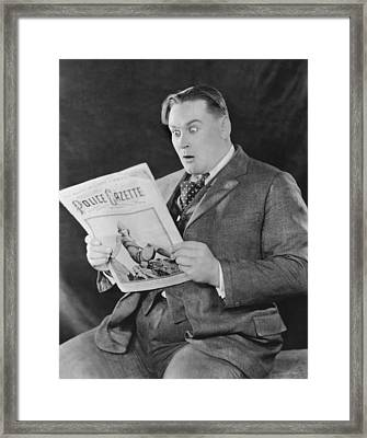 Surprise In The Police Gazette Framed Print by Underwood Archives