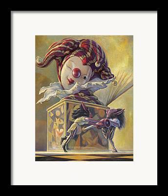 Jack-in-the-box Framed Prints