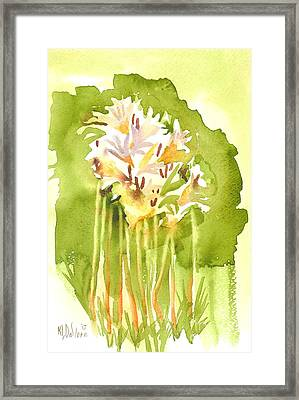 Surprise Lilies A Portrait Framed Print