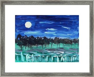 Surprise Moon Framed Print by Mary Carol Williams
