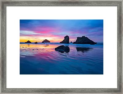 Surprise Sunset Framed Print by Patricia Davidson