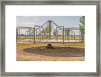 Surprise Under The Merry-go-round Framed Print