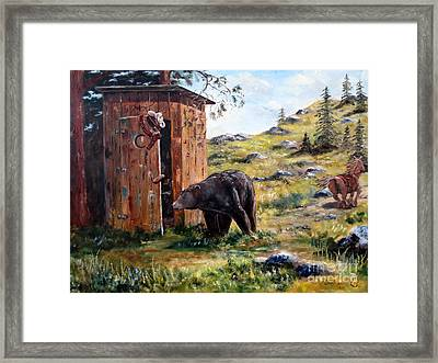 Surprise Visit Framed Print