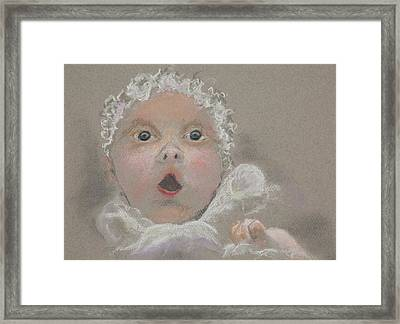 Surprised Baby Framed Print by Jocelyn Paine