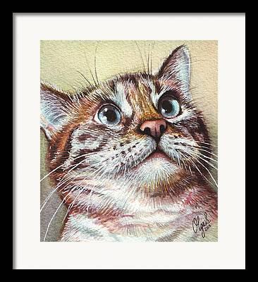 Pet Portraits Mixed Media Framed Prints
