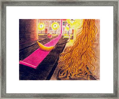 Surreal Alley Framed Print