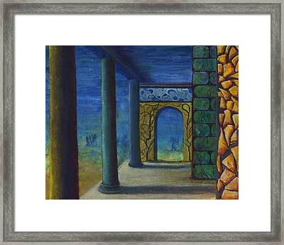 Surreal Art With Walls And Columns Framed Print by Lenora  De Lude