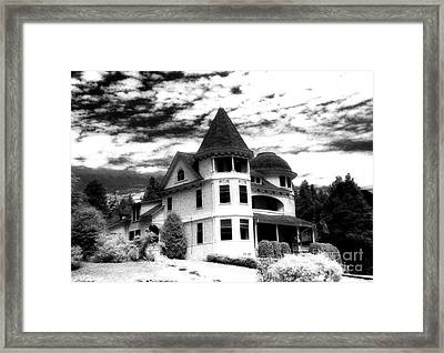 Surreal Black White Mackinac Island Michigan Home Framed Print by Kathy Fornal
