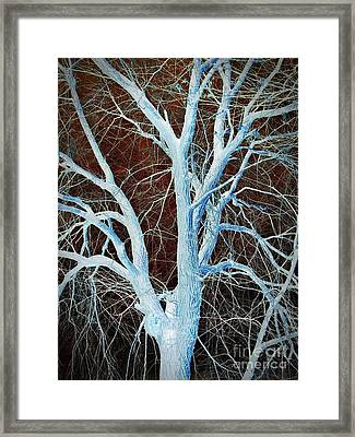 Surreal Blue Tree Framed Print