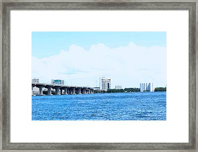 Surreal Bridge Framed Print by Victoria Clark