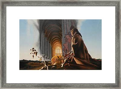 Surreal Cathedral Framed Print by Dave Martsolf