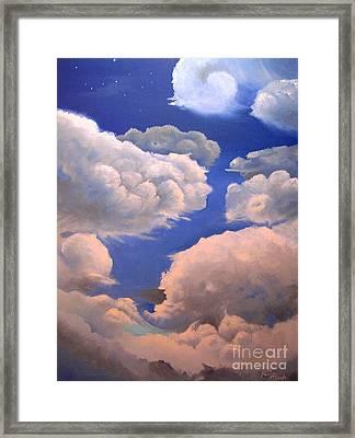 Surreal Cloud One Framed Print by Paula Marsh