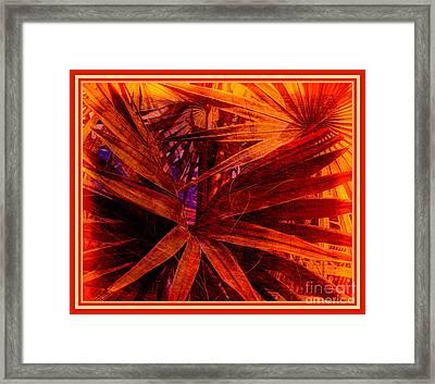 Surreal Dreams In Red Framed Print by Susanne Van Hulst