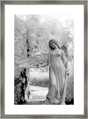 Surreal Dreamy Fantasy Infrared Angel Nature Framed Print by Kathy Fornal