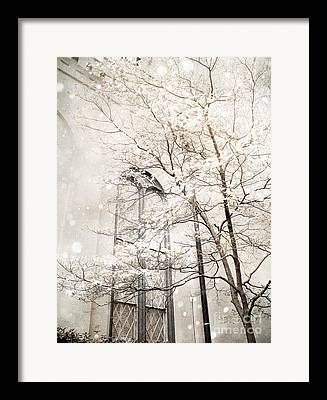 Snow On Trees Framed Prints