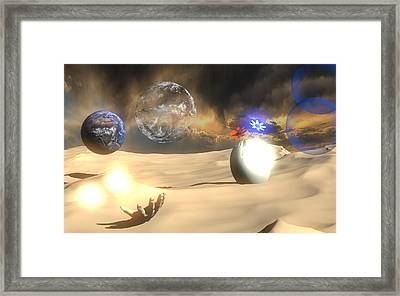 Surreal Earth Framed Print by Brainwave Pictures