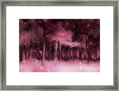 Surreal Fantasy Nature Forest Trees Woodlands Ravens Birds  Framed Print