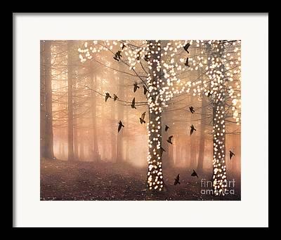 Surreal Dreamy Woodlands Framed Prints
