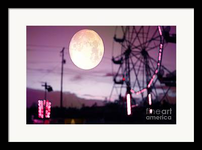 Surreal Ferris Wheel Framed Prints