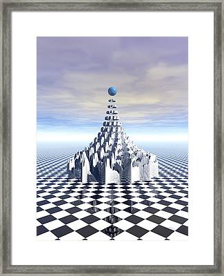 Surreal Fractal Tower Framed Print by Phil Perkins
