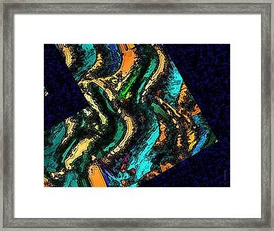 Surreal Geometry With Texture Framed Print by Mario Perez