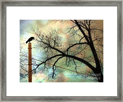 Surreal Gothic Crow Ravens Birds Fantasy Nature  Framed Print