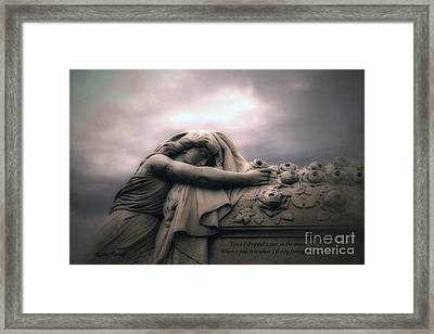 Surreal Gothic Sad Angel Cemetery Mourner - Inspirational Angel Art Framed Print