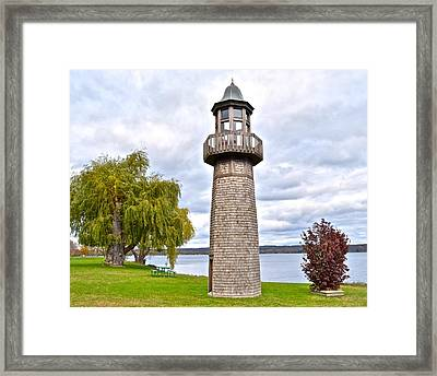 Surreal Lighthouse Framed Print by Frozen in Time Fine Art Photography