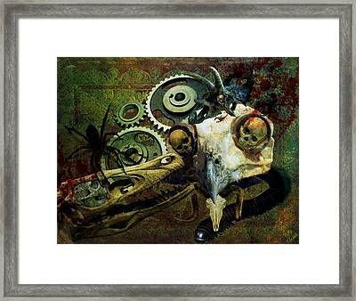 Framed Print featuring the painting Surreal Nightmare by Ally  White