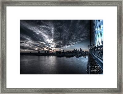 Surreal Philadelphia Skyline Framed Print