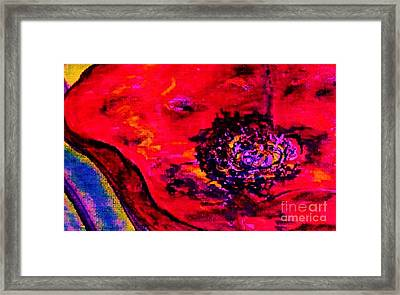 Surreal Poppy  . . .  Woman Breaks Out Framed Print