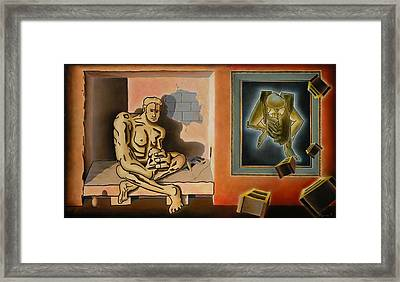 Surreal Portents Of Genius Framed Print by Dave Martsolf